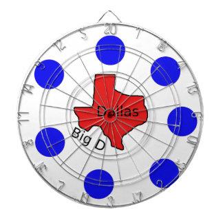 Dallas, Texas City Design (Big D) Dartboard