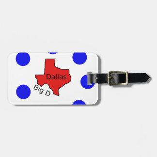 Dallas, Texas City Design (Big D) Luggage Tag