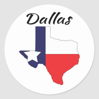 Dallas - Texas Classic Round Sticker