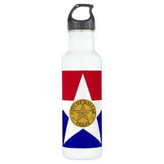Dallas Texas Flag 710 Ml Water Bottle