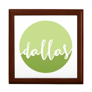 Dallas, Texas| Green Ombre Circle Large Square Gift Box