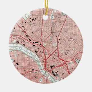 Dallas Texas Map (1995) Ceramic Ornament