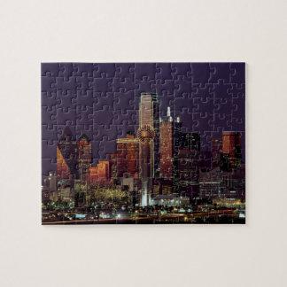 Dallas, Texas night skyline Jigsaw Puzzle