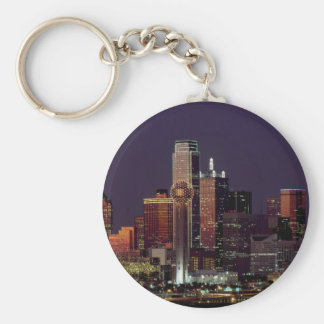 Dallas, Texas night skyline Key Ring