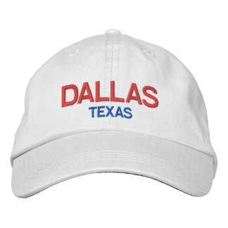 Dallas Texas Personalized Adjustable HatDallas Embroidered Hat
