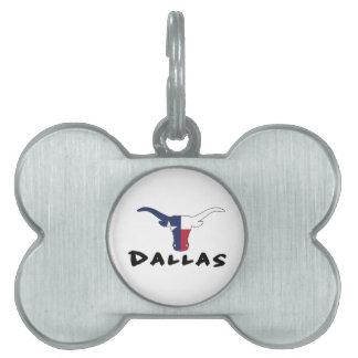 Dallas Texas Pet ID Tag