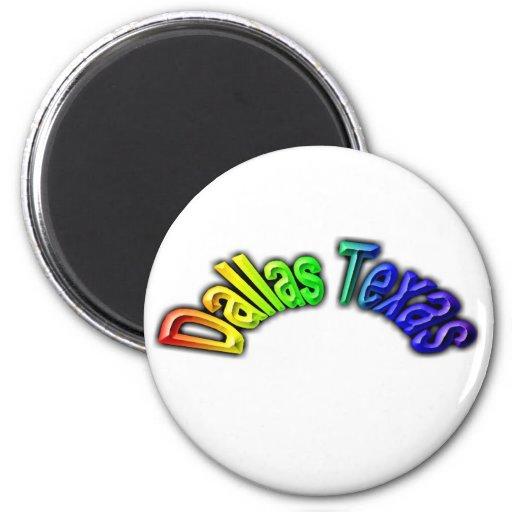 Dallas Texas Popular Rainbow Design Fridge Magnets