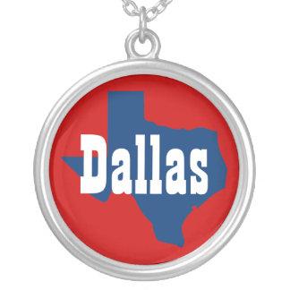 Dallas Texas Round Pendant Necklace