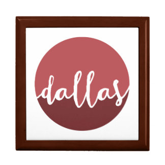 Dallas, Texas| Rust Ombre Circle Large Square Gift Box