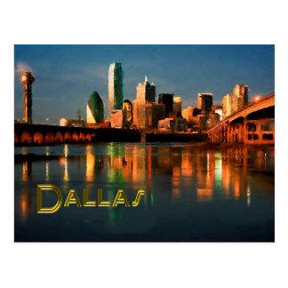Dallas Texas Skyline at Dusk Postcard