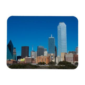 Dallas Texas skyline at sunset Rectangular Photo Magnet