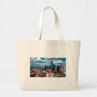 Dallas Texas Skyline Large Tote Bag