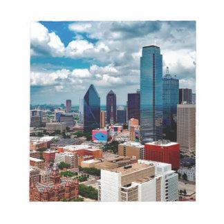 Dallas Texas Skyline Notepad
