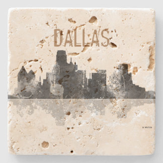 DALLAS, TEXAS SKYLINE STONE COASTER