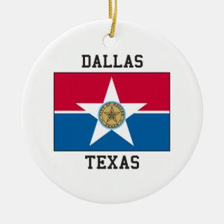 Dallas, Texas USA Round Ceramic Decoration