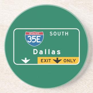Dallas, TX Road Sign Coaster