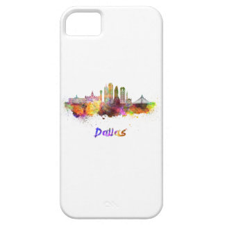 Dallas V2 skyline in watercolor iPhone 5 Covers
