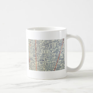 Dallas Vintage Map Coffee Mug