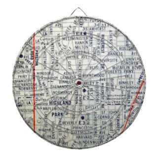 Dallas Vintage Map Dartboard