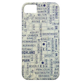 Dallas Vintage Map iPhone 5 Cases