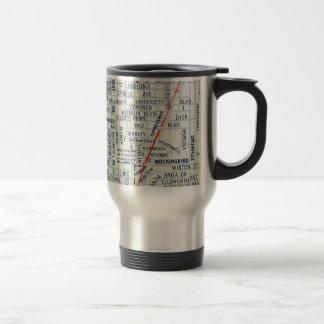 Dallas Vintage Map Travel Mug