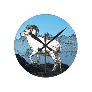 Dall's Sheep Wall Clocks
