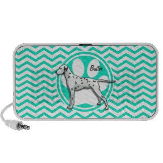 Dalmatian Aqua Green Chevron Speaker