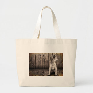 Dalmatian baby large tote bag