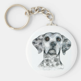 Dalmatian Basic Round Button Key Ring