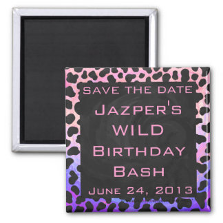 Dalmatian Black and Pink Print Refrigerator Magnets