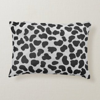 Dalmatian Black and White Print Decorative Cushion