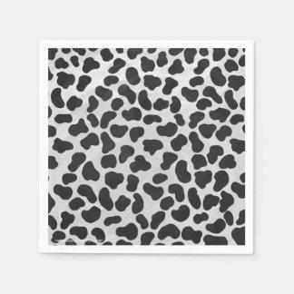 Dalmatian Black and White Print Paper Serviettes