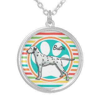 Dalmatian Bright Rainbow Stripes Custom Jewelry