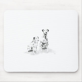 Dalmatian Canine Art Dog Drawing Mouse Pad