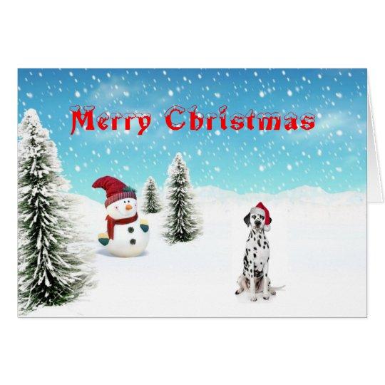 Dalmatian Christmas Card