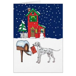 Dalmatian Christmas Mail Card