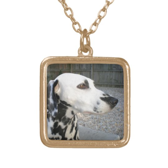 Dalmatian - Cindy's Reina Gold Plated Necklace