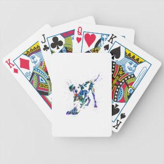 Dalmatian, Dalmatian dog, watercolor Dalmatian Bicycle Playing Cards
