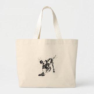 Dalmatian, Dalmatian dog, watercolor Dalmatian Large Tote Bag