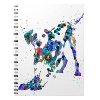Dalmatian, Dalmatian dog, watercolor Dalmatian Notebook