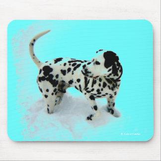 """Dalmatian Deco"" Mousepad"