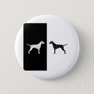 Dalmatian dog 6 cm round badge