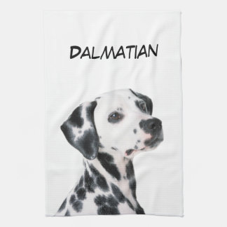 Dalmatian dog beautiful photo, gift tea towel