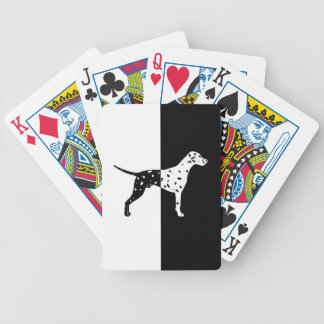 Dalmatian dog bicycle playing cards