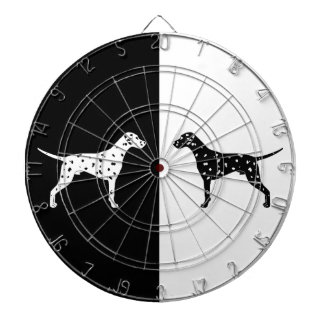 Dalmatian dog dartboard