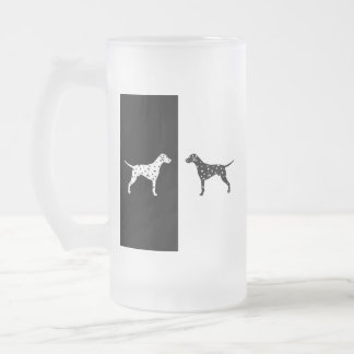 Dalmatian dog frosted glass beer mug