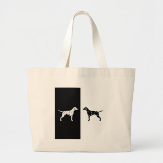 Dalmatian dog large tote bag
