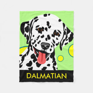 Dalmatian Dog Lover Gifts Fleece Blanket