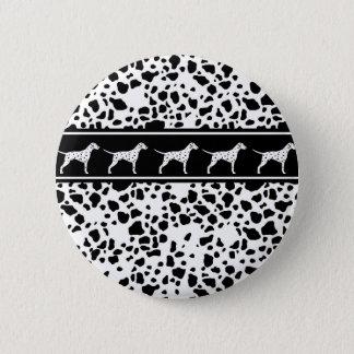 Dalmatian dog pattern 6 cm round badge