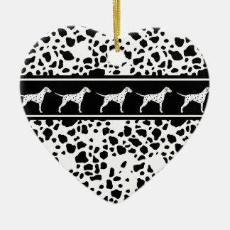 Dalmatian dog pattern ceramic ornament